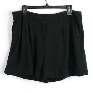 Ann Taylor black knit shorts size 12 Nwot